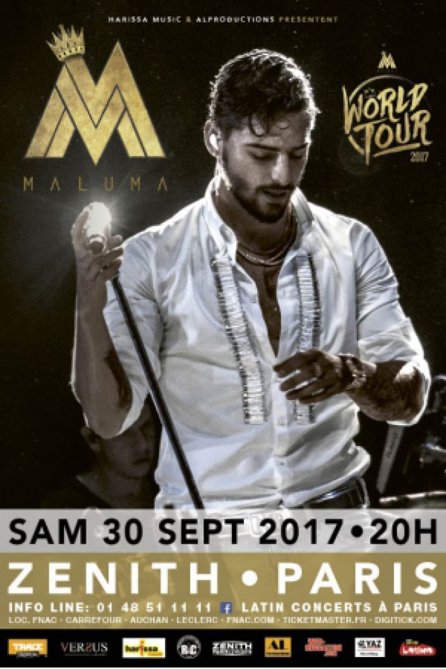 Concert MALUMA à Paris @ Zénith Paris La Villette - Billets & Places